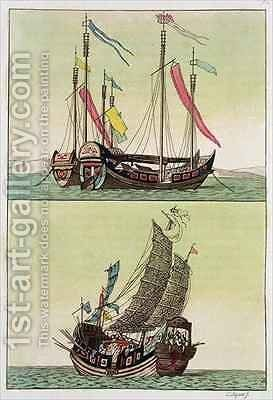 Two kinds of Chinese Junk by Giovanni Bigatti - Reproduction Oil Painting