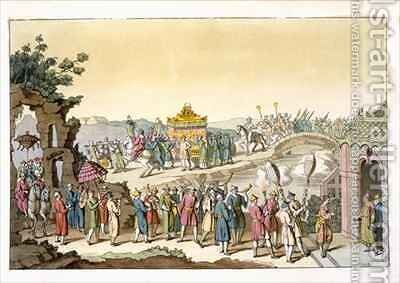 Procession to a Taoist Traditional Wedding by Giovanni Bigatti - Reproduction Oil Painting