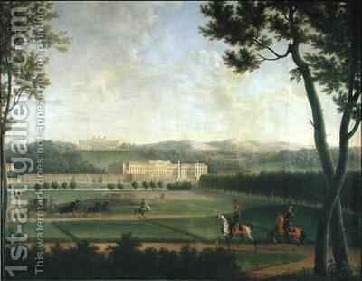 Schloss Schonbrunn by Jean and Vernet, Antoine Bidauld - Reproduction Oil Painting