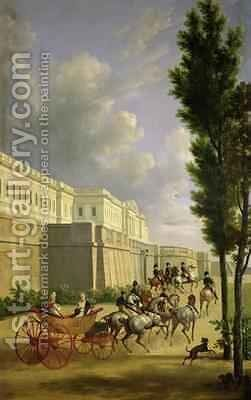 Napoleon I (1769-1821) and Marie-Louise (1791-1847) Leaving for the Hunt in Compiegne by Jean and Vernet, Antoine Bidauld - Reproduction Oil Painting