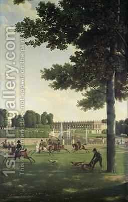 The Open Space in Front of the Grand Trianon by Jean and Vernet, Antoine Bidauld - Reproduction Oil Painting