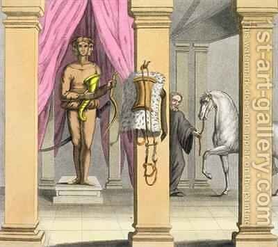 The stables of Caligula's horse, Incitata by Angelo Biasioli - Reproduction Oil Painting