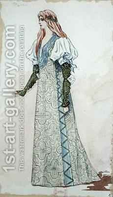 Desdemona Costume Design for the first performance of 'Otello' by Charles Bianchini - Reproduction Oil Painting