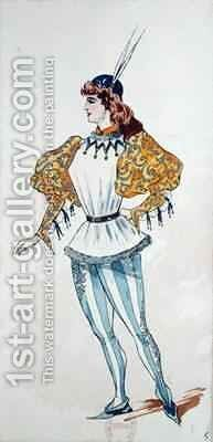 Costume Design for the first performance of 'Otello' by Charles Bianchini - Reproduction Oil Painting