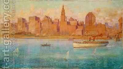 Lake Front, Chicago by Harold Harrington Betts - Reproduction Oil Painting