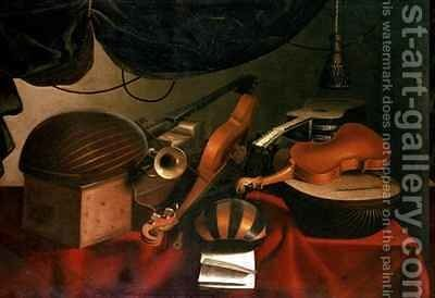 Musical Still Life 3 by Bartolomeo Bettera - Reproduction Oil Painting