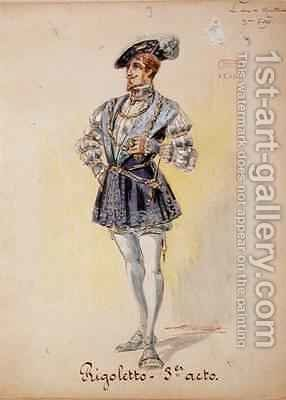 Costume for The Duke of Mantua by Charles Betout - Reproduction Oil Painting