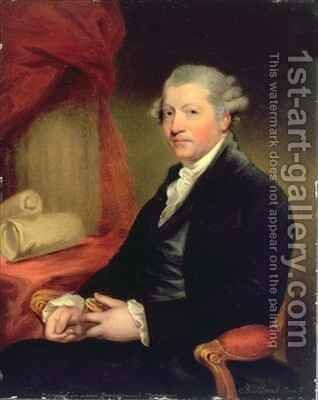 Portrait of Joshua Reynolds (1723-92) after a portrait by Gilbert Stuart by Charles Bestland - Reproduction Oil Painting