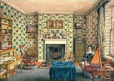 The Artist in Her Painting Room, York by Mary Ellen Best - Reproduction Oil Painting