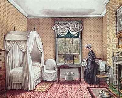 Bedroom at Langton Hall by Mary Ellen Best - Reproduction Oil Painting