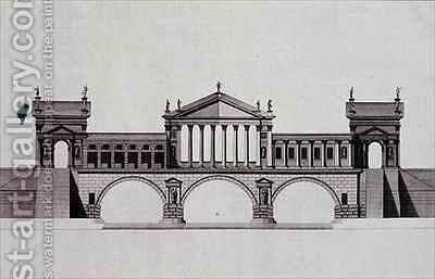 Design by Andrea Palladio by (after) Bertotti-Scamozzi, Ottavio - Reproduction Oil Painting