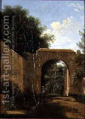 A Walled Garden by Jean-Victor Bertin - Reproduction Oil Painting