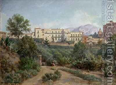 View of Palermo by Jean Francois Armand Felix Bernard - Reproduction Oil Painting