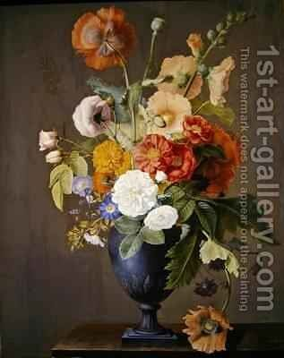 Still life with flowers by Antoine Berjon - Reproduction Oil Painting