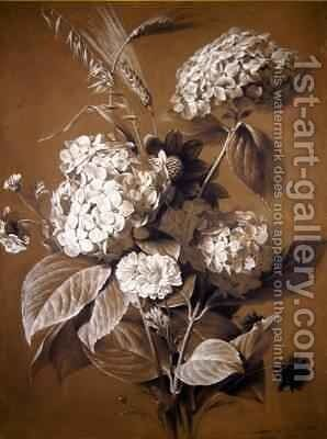 Hortensias by Antoine Berjon - Reproduction Oil Painting