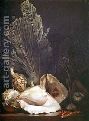 Still Life of Shells and Coral by Antoine Berjon - Reproduction Oil Painting