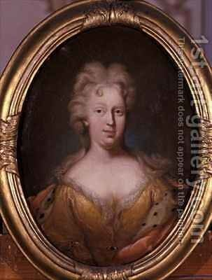 Portrait of Friederike Elisabeth von Sachsen-Marksuhl by Andreas Eusebius Berhold - Reproduction Oil Painting