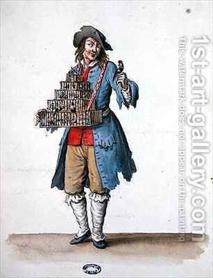 Bird Seller, costume designed for Louis XIV's Entertainments by Jean I Berain - Reproduction Oil Painting