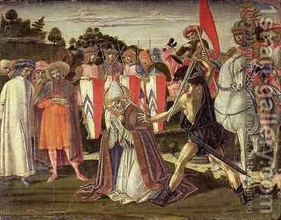 The martyrdom of St. Fabian by Benvenuto di Giovanni - Reproduction Oil Painting