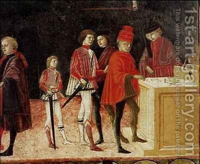 The Council Finances in Times of War and of Peace 2 by Benvenuto di Giovanni - Reproduction Oil Painting