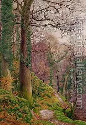 A Path in the Wood by Edward Bentley - Reproduction Oil Painting