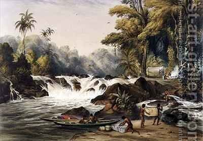 Christmas Cataract on the River Berbice by (after) Bentley, Charles - Reproduction Oil Painting