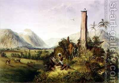 Pure-Piapa, a remarkable basaltic stone in Guiana by (after) Bentley, Charles - Reproduction Oil Painting