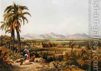 Pirara and Lake Amucu, The Site of Eldorado by (after) Bentley, Charles - Reproduction Oil Painting