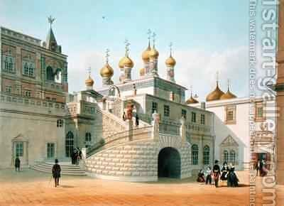 View of the Boyar Palace in the Moscow Kremlin by (after) Benoist, Felix - Reproduction Oil Painting