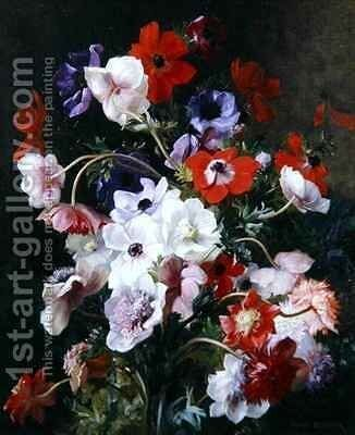 Still Life of Flowers by Jean Benner - Reproduction Oil Painting