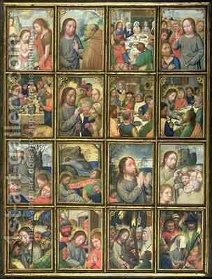 The Life of Christ, from the 'Stein Quadriptych' by Simon Bening - Reproduction Oil Painting