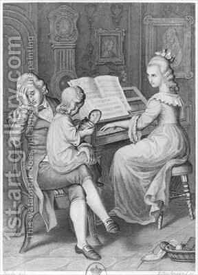 Illustration from 'The Sorrows of Werther' by (after) Bendel, Hans - Reproduction Oil Painting