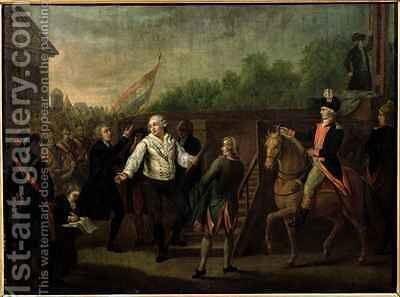 Louis XVI (1754-93) at the Foot of the Scaffold by Charles Benazech - Reproduction Oil Painting