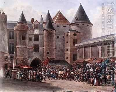The Fattened Cow at Chatelet by Benard - Reproduction Oil Painting