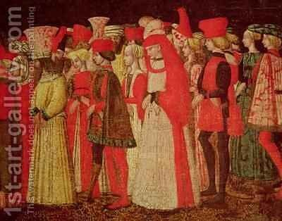 People of the Court of the Sforza Family by Bonifazio Bembo - Reproduction Oil Painting
