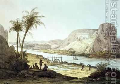 View of the Temples at Abu Simbel, Nubia by (after) Belzoni, Giovanni Battista - Reproduction Oil Painting