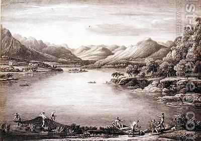 A View of the Head of Ulswater toward Patterdale by (after) Bellers, William - Reproduction Oil Painting