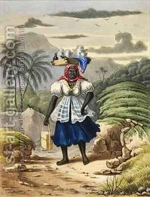 Milkwoman by Isaac Mendes Belisario - Reproduction Oil Painting