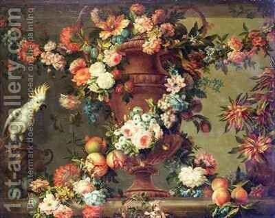 An Abundance of Fruit and Flowers by Jean Baptiste Belin de Fontenay - Reproduction Oil Painting