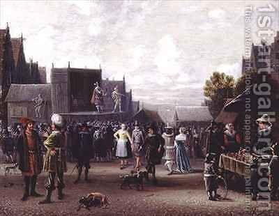 The Kermesse by Sybrand Van Beest - Reproduction Oil Painting