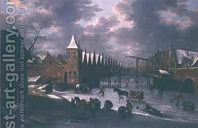 Amsterdam City Gate by Anthonie Beerstraten - Reproduction Oil Painting