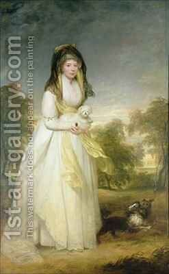 Portrait of Queen Charlotte (1744-1818), wife of King George III by Sir William Beechey - Reproduction Oil Painting