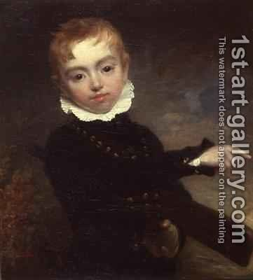 Boy with a Cricket Bat by Sir William Beechey - Reproduction Oil Painting