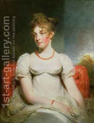 Portrait of Frances Elizabeth Addington (1788-1828) by Sir William Beechey - Reproduction Oil Painting