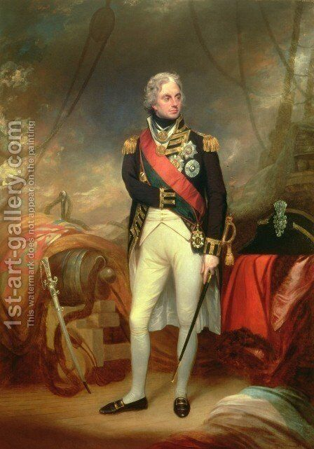 Portrait of Horatio, Viscount Nelson (1758-1805) by Sir William Beechey - Reproduction Oil Painting