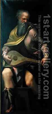 Lute player by Girolamo Mazzola Bedoli - Reproduction Oil Painting