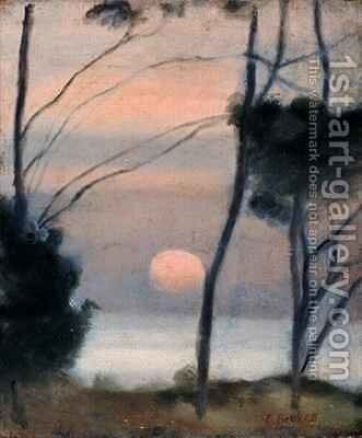 Moonrise, Mentone by Clarice Beckett - Reproduction Oil Painting