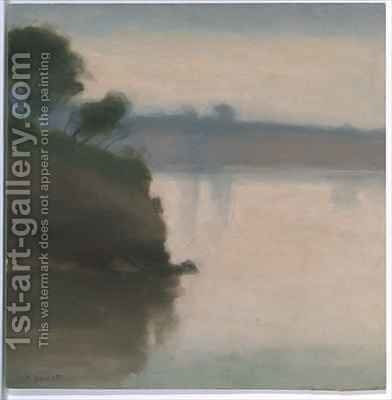 Beaumarais Seascape by Clarice Beckett - Reproduction Oil Painting