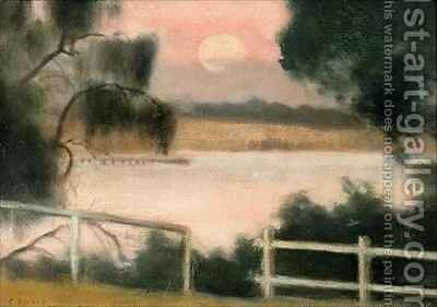 Keefer's Jetty by Clarice Beckett - Reproduction Oil Painting