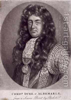 Christopher Monck, 2nd Duke of Albemarle (1653-88) by (after) Becket, Isaac - Reproduction Oil Painting